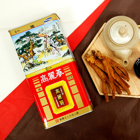 [지삼] 6년근 고려홍삼 20지 300g, [Earth Grade Ginseng] 6-year-old Korean Red Ginseng  20 pieces 300g